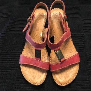 Tsonga Red low heel very comfortable.